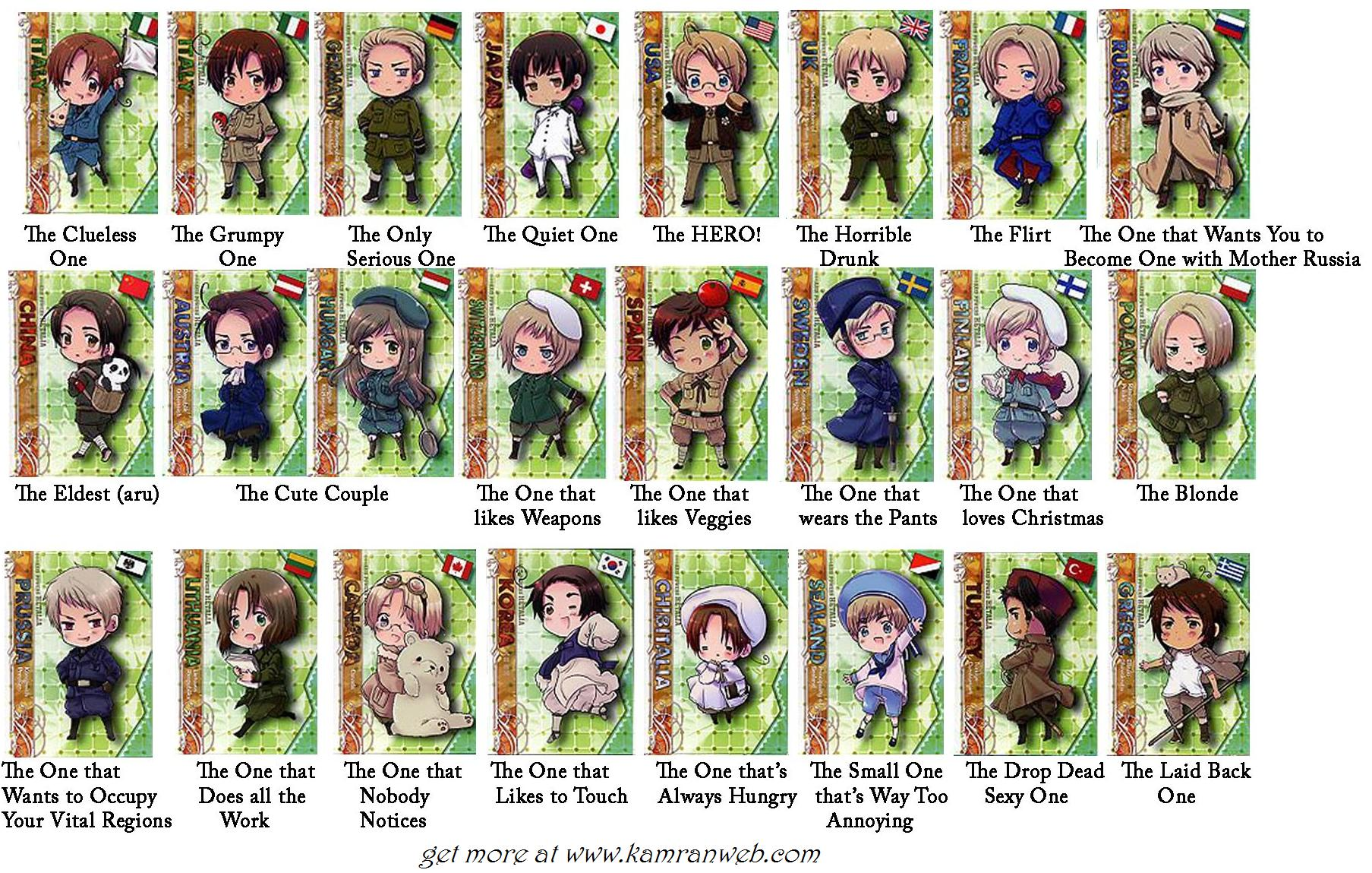 Manga Anime Hetalia Axis Powers Characters Facebook Tag Your Friends Picture/Photo