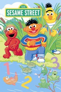 Sesame Street's Earnie Bert and Elmo