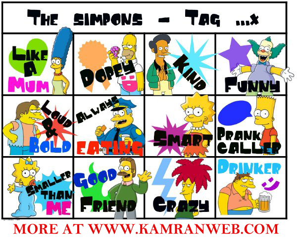 Simpsons Facebook Tag Your Friends