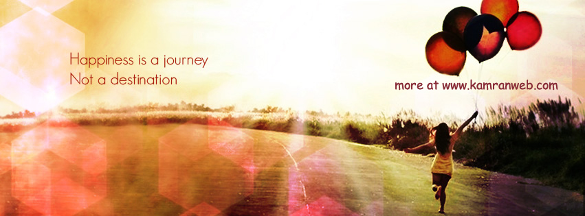 Quotes Timeline Cover - Happiness Is A Journey Cover